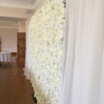 flower wall, floral backdrop, silk flower wall for hire Bristol